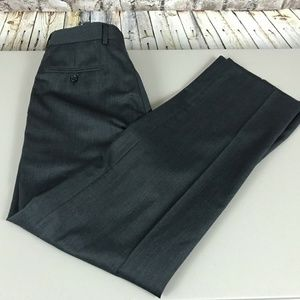 Men's Paul Fredrick Dress Pants Size 34×32 Flat